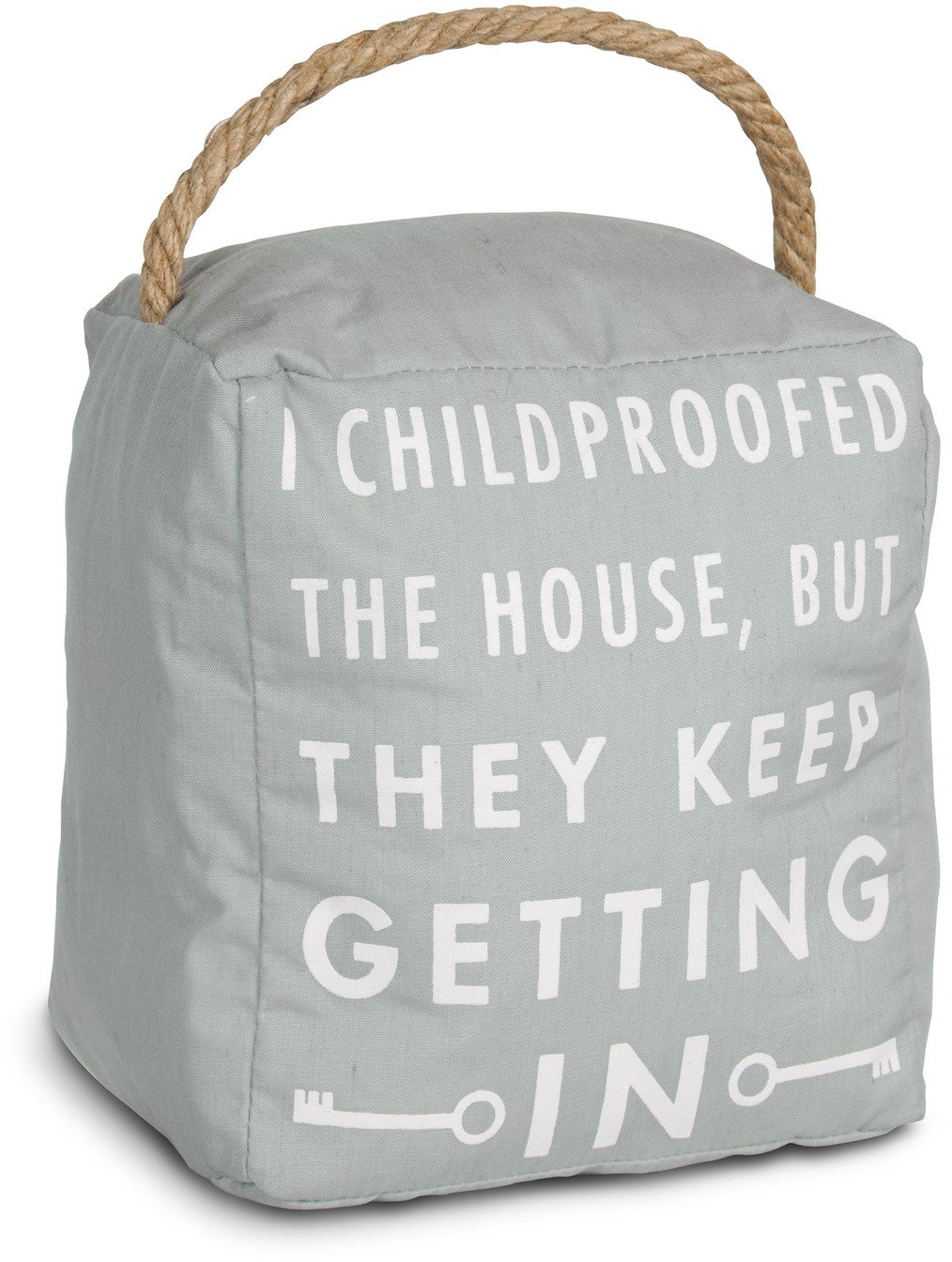 Pavilion Gift Company Open Door Decor - I Childproofed The House, But They Keep Getting In Gray Door Stopper Mom Gift