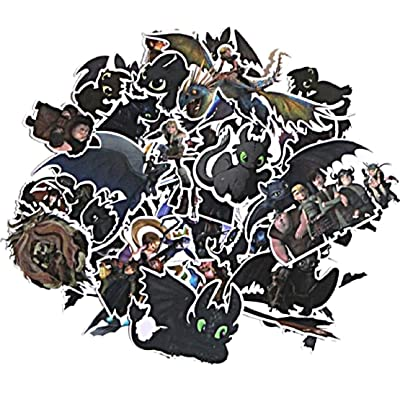 How to Train Your Dragon Themed Decal Stickers Assorted Lot of 48 Pieces: Toys & Games