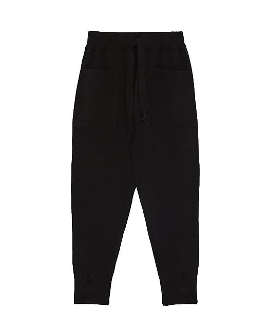 Zara Pantaloni Donna Nero Large: Amazon.it: Abbigliamento