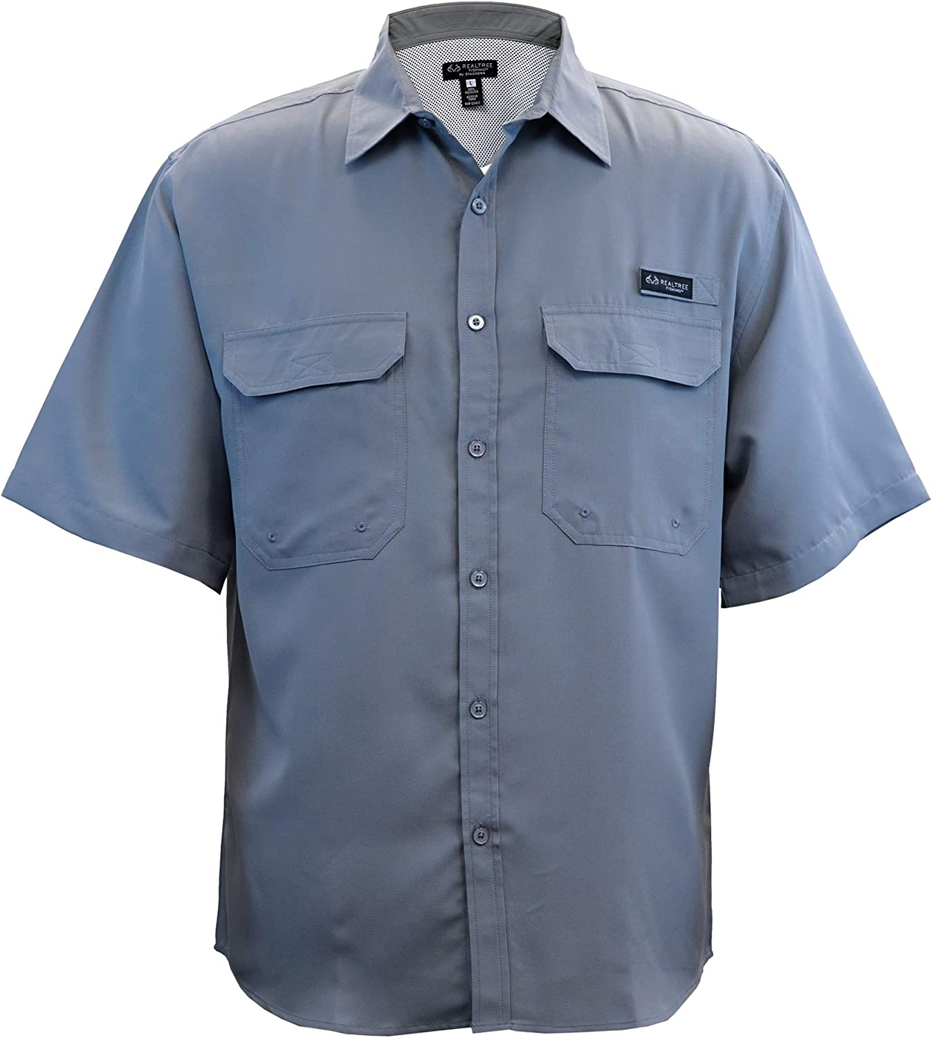 Staghorn Mens Realtree Short Sleeve Button Down Fishing Shirt