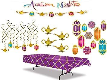 Kit de decoración de fiesta de noche árabe que incluye una ...