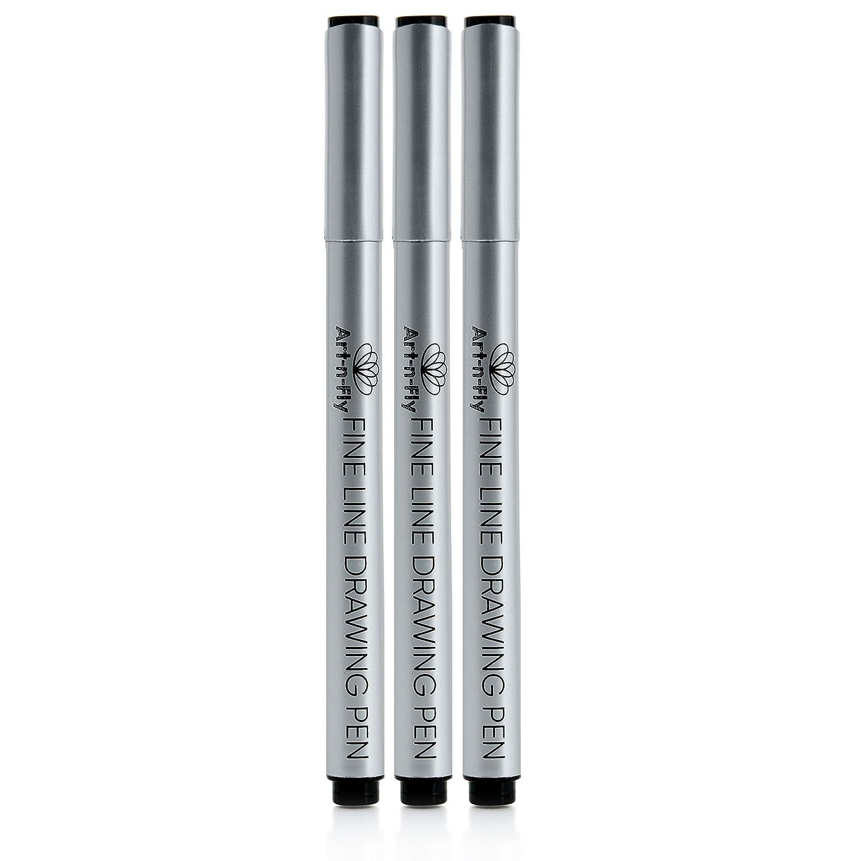Pennarelli a inchiostro nero con punta ultra fine 003 con penna a inchiostro impermeabile Archival 3 penne da disegno