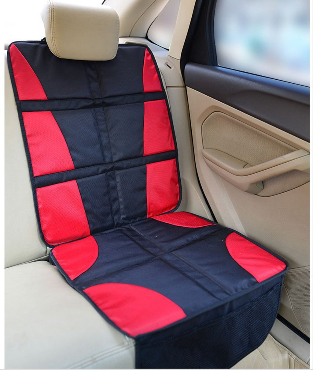 Car Seat Protector Child or Baby Auto Seat Cover Mat for under Carseat with Thickest Padding to Protect Leather & Fabric Upholstery,Red DoMyfit