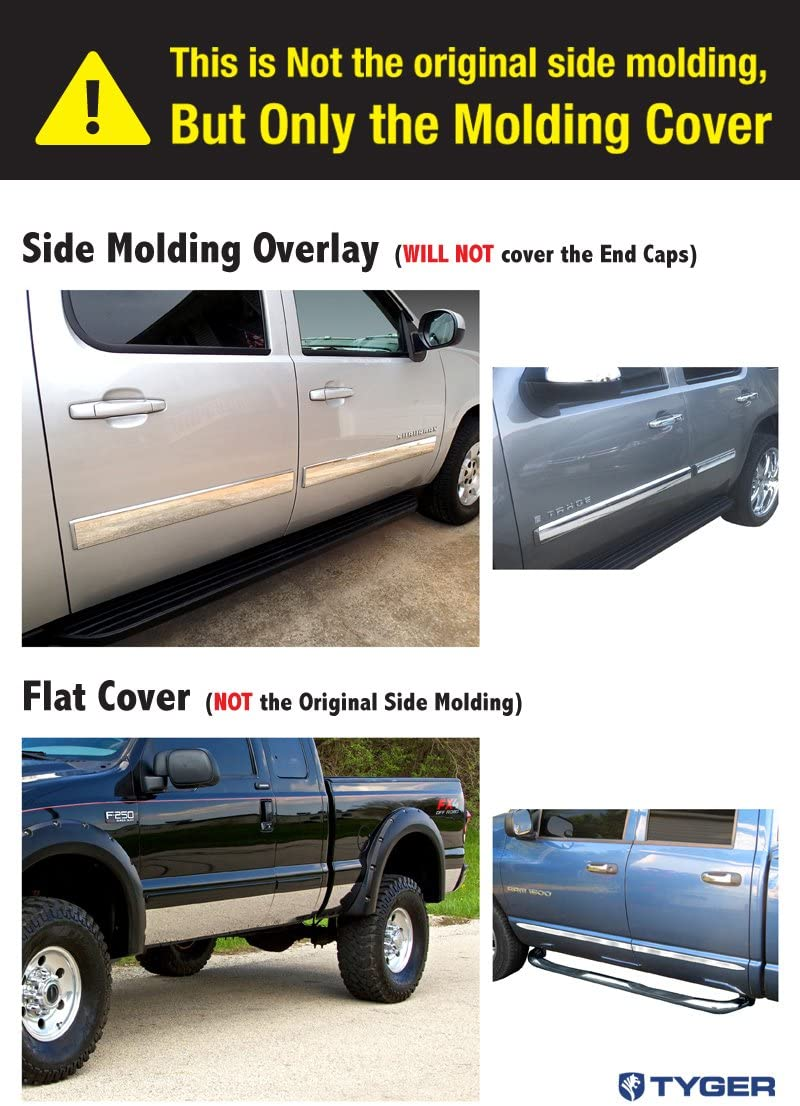 Works with 1994-1997 Dodge Ram Extended Cab Long Bed Rocker Panel Chrome Stainless Steel Body Side Moulding Molding Trim Cover 8.5 Wide 12PC Made in USA