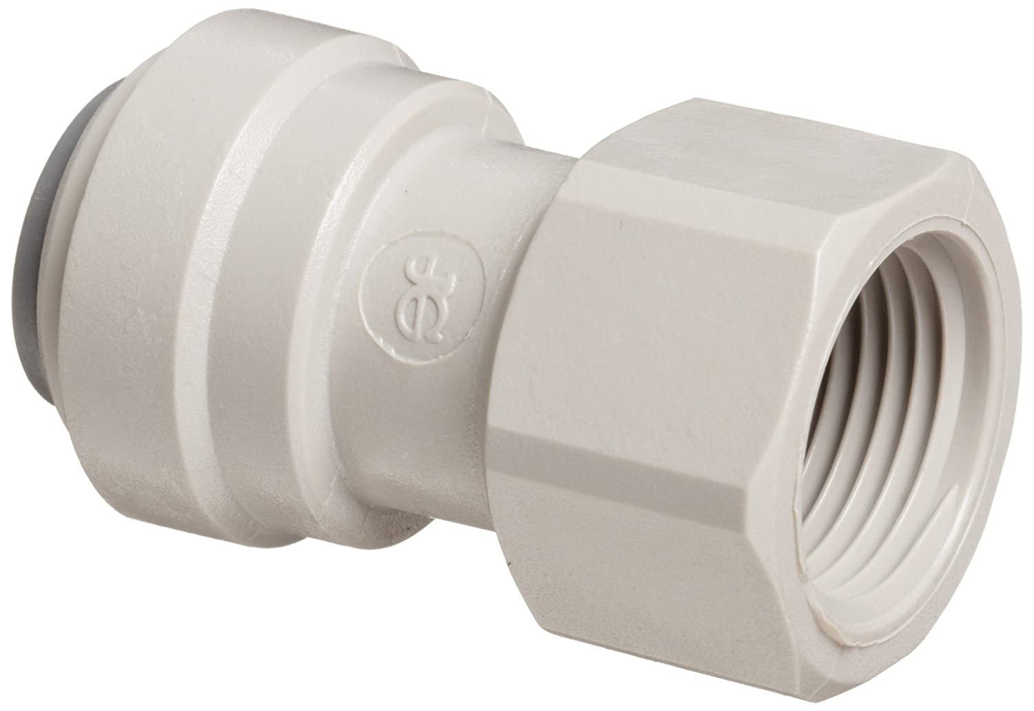 "John Guest Acetal Copolymer Tube Fitting, Flat End Adaptor, 3/8"" Tube OD x 3/8"" BSP Female (Pack of 10)"