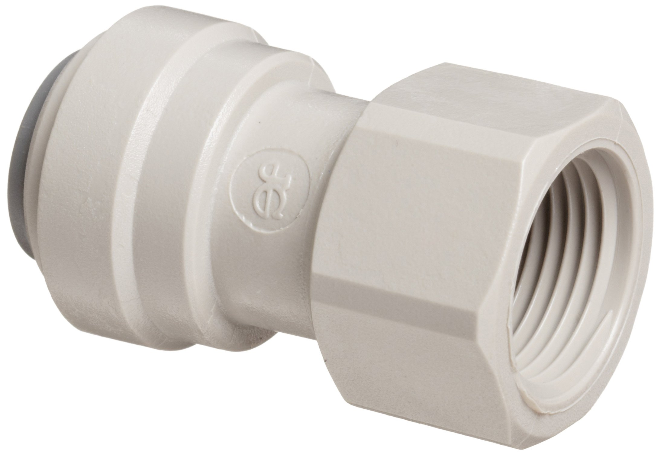 John Guest Acetal Copolymer Tube Fitting, Flat End Adaptor, 3/8'' Tube OD x 5/8'' BSP Female (Pack of 10)