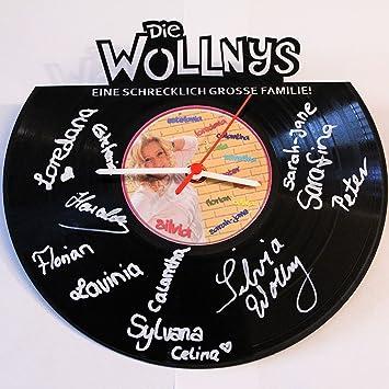 Wanduhr Aus Vinyl Schallplattenuhr Die Wollnys Mit Originalen  Unterschriften (handsigniert) Upcycling Design Uhr Wand