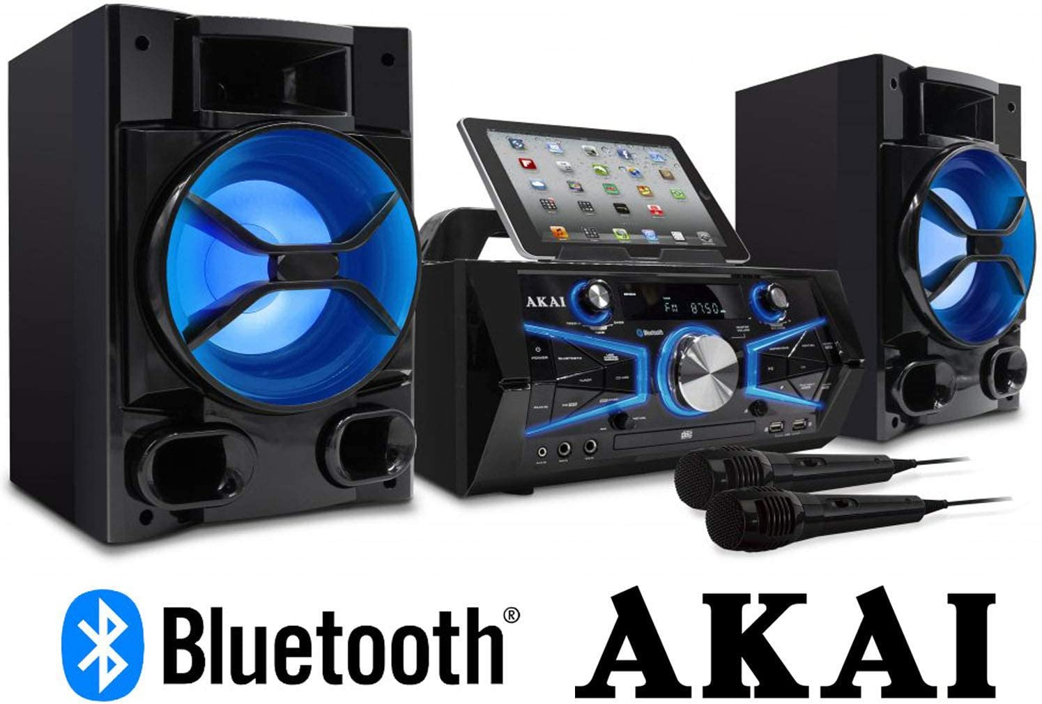 Akai KS5500-BT Karaoke Mini System 150 Watts CD&G with Lightning Effect Limited Edition 71sRQSFTYOLSL1500_