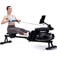 ECHANFIT Water Rowing Machine Rower 400 LB Weight Capacity with 6 Levels Resistance for Home Use – R49 Max