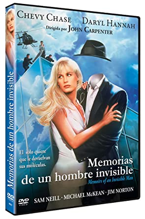 Memorias de un Hombre Invisible DVD 1975 Memoirs of an Invisible Man: Amazon.es: Chevy Chase, Daryl Hannah, Sam Neill, Michael McKean, Jim Norton, Pat Slipper, Paul Perry, Stephen Tobolowsky, John Carpenter, Chevy
