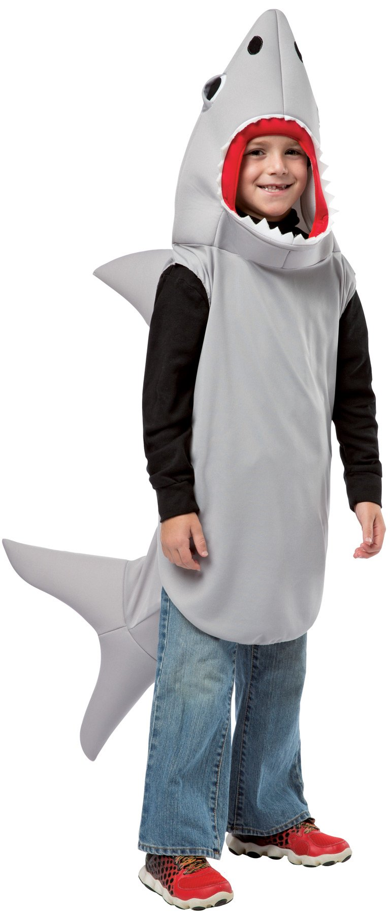 UHC Boy's Sand Shark Fancy Dress Safari Fish Theme Child Halloween Costume, M (7-10)