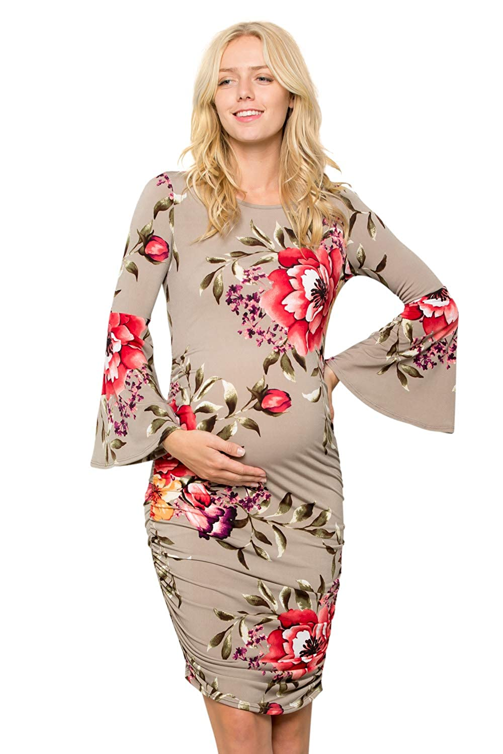 My Bump DRESS レディース B07HRDLY47 Medium Floral / Taupe Red Floral / Taupe Red Medium