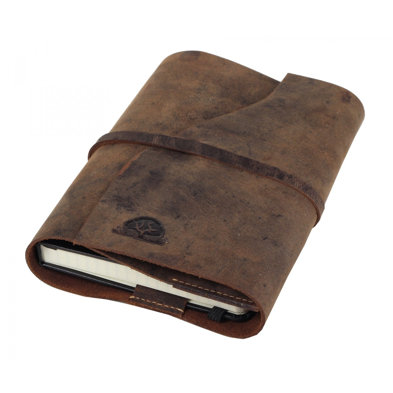 Greenburry Vintage Taschen-Organizer Notizbuch. Das Leder Tagebuch DINA6 ist Handgefertigt und aus echtem pflanzlich gegerbten weichem Rindleder - Inlet mühelos wechselbar