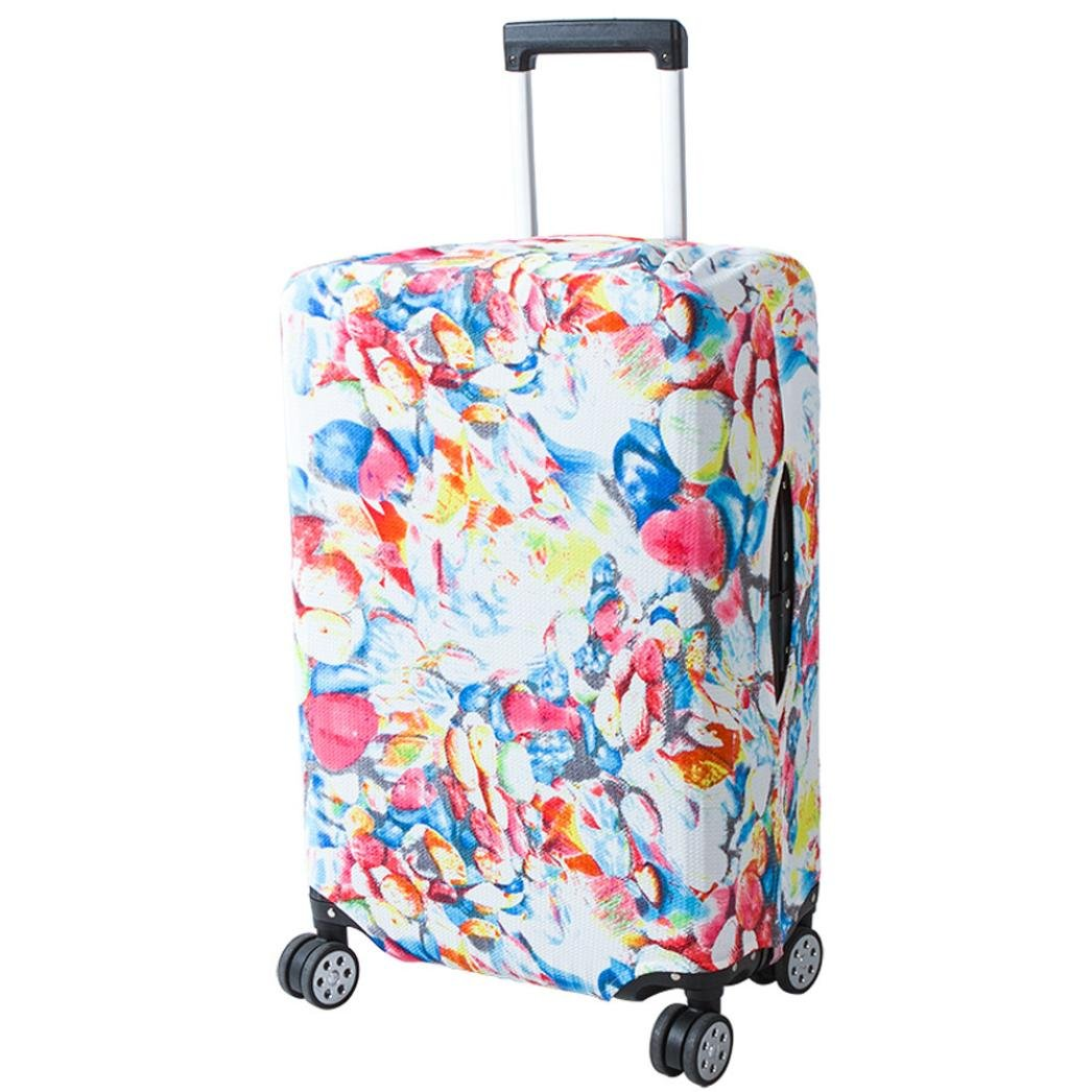 Travel Luggage Cover,SerryNICE Washable Elastic Dust-Proof Travel Bag Suitcase Cover 18-20 Inches (B)