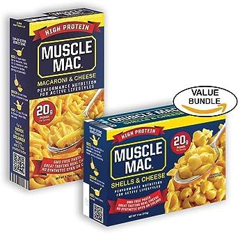 Muscle Mac, 20 gramos de proteína de alta, macarrones con ...
