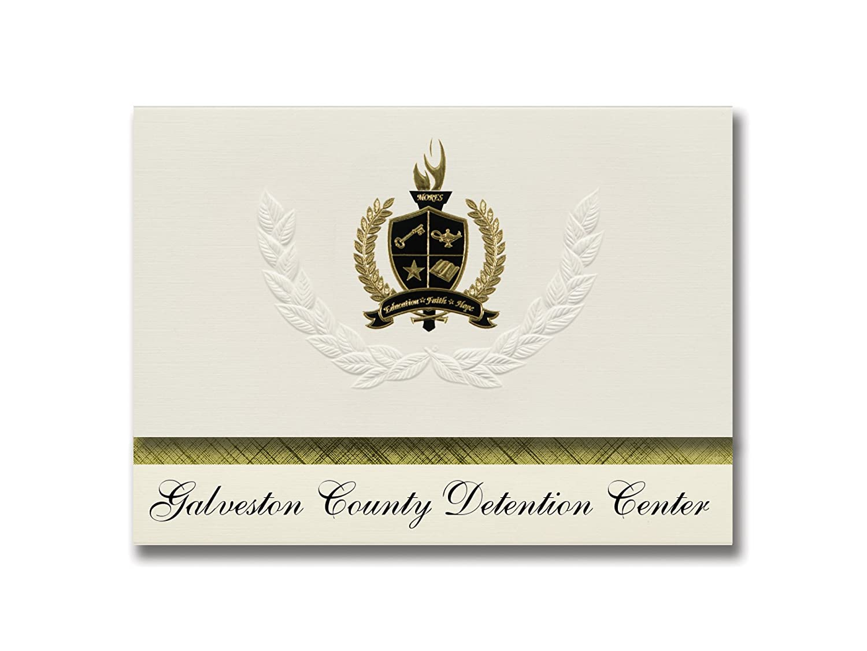 Signature Ankündigungen Galveston Detention Center (Dickinson, TX) Graduation Ankündigungen, Presidential Elite Pack 25 mit Gold & Schwarz Metallic Folie Dichtung B078VF3BGH | Günstige Preise