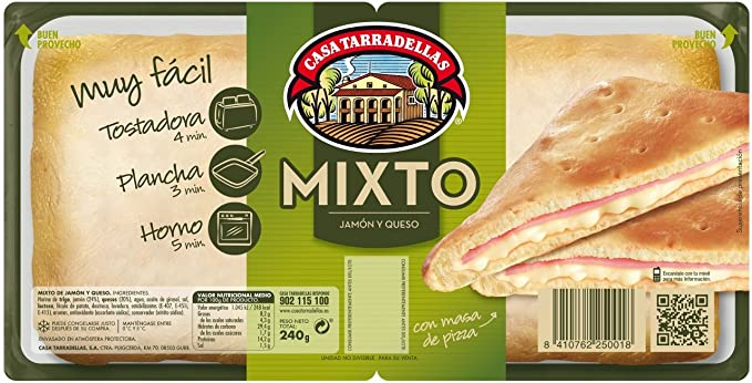 Mixto Jamón Y Queso - Casa Tarradellas 2x120 gr: Amazon.es ...