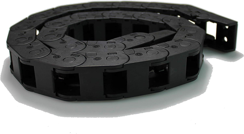 HFS R Machine Tool Plastic Towline Drag Chain Black 1530R28 Open