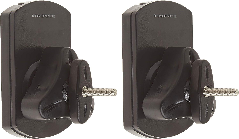 Amazon Com Monoprice Low Profile 22 Lb Capacity Speaker Wall Mount Brackets Pair Black Electronics