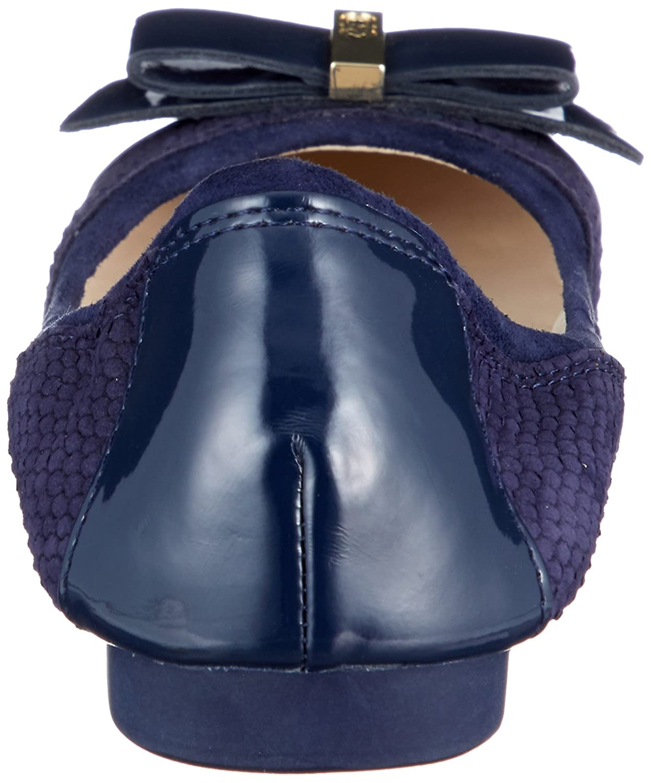 Cole B(M) Haan Women's Elsie Ii Ballet Flat B079J5Y175 8.5 B(M) Cole US|Marine Blue Embossed Suede/Leather 3a869f