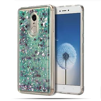 Funda Xiaomi Redmi Note 4X, Caselover Bling Silicona TPU Arena Movediza Lentejuelas Carcasa para Redmi Note 4X Glitter Líquido Brillar Cristal Sparkle ...