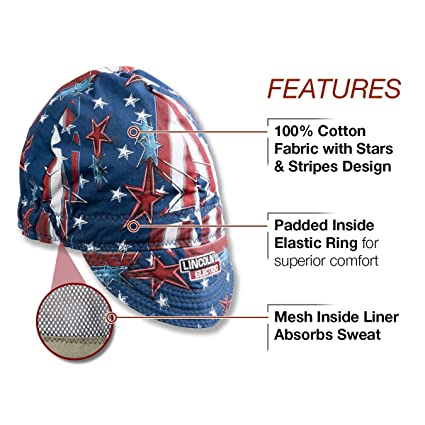 Lincoln Electric Welding Cap| Mesh Inside Liner | All American Print |K3203- ALL (Limited Edition) - - Amazon.com