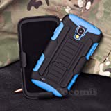 Galaxy S4 Mini Coque, Cocomii Robot Armor NEW [Heavy Duty] Premium Belt Clip Holster Kickstand Shockproof Hard Bumper Shell [Military Defender] Full Body Dual Layer Rugged Cover Case Étui Housse For Samsung I9190 I9195 (Blue)