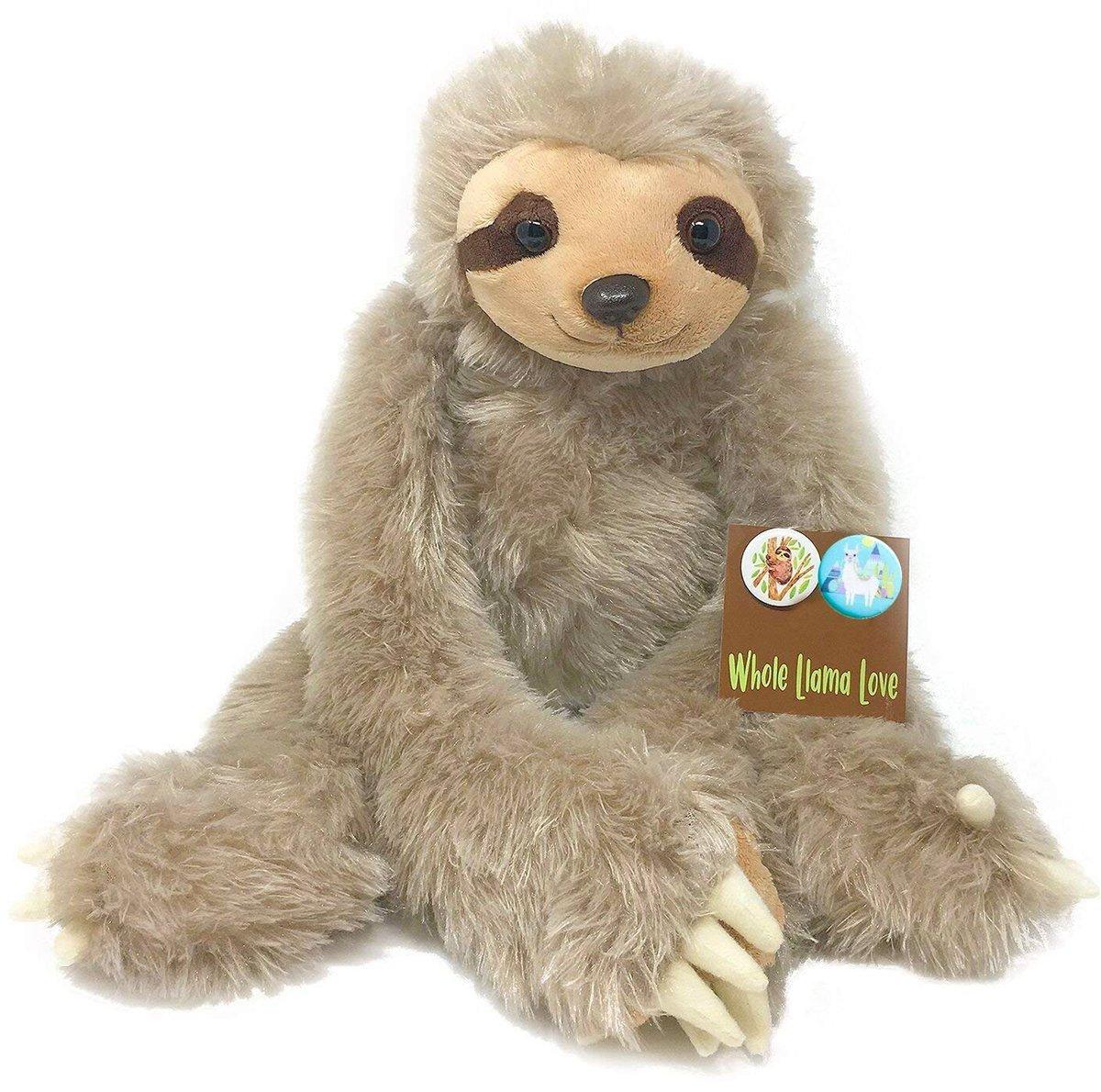 Sloth Stuffed Animal - 20'' Plush - Long Cuddly Arms That Attach & 2 Bonus Pins - Super Soft by Whole Llama Love