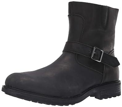 da4581dbcf3 Steve Madden Men s SELF Made BUCKK Ankle Boot Black Leather 7 ...