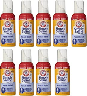 product image for Arm & Hammer Simply Saline Nasal Relief Mist Spray- Giant Size - 4.25 FL OZ Per Bottle (9 Bottles)