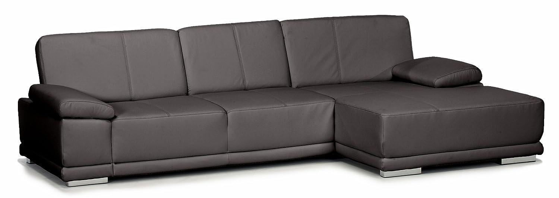 Lederecke Corianne/3er-Longchair/282x80x162 cm/Leder Punch schwarz-Poroflex softy schwarz