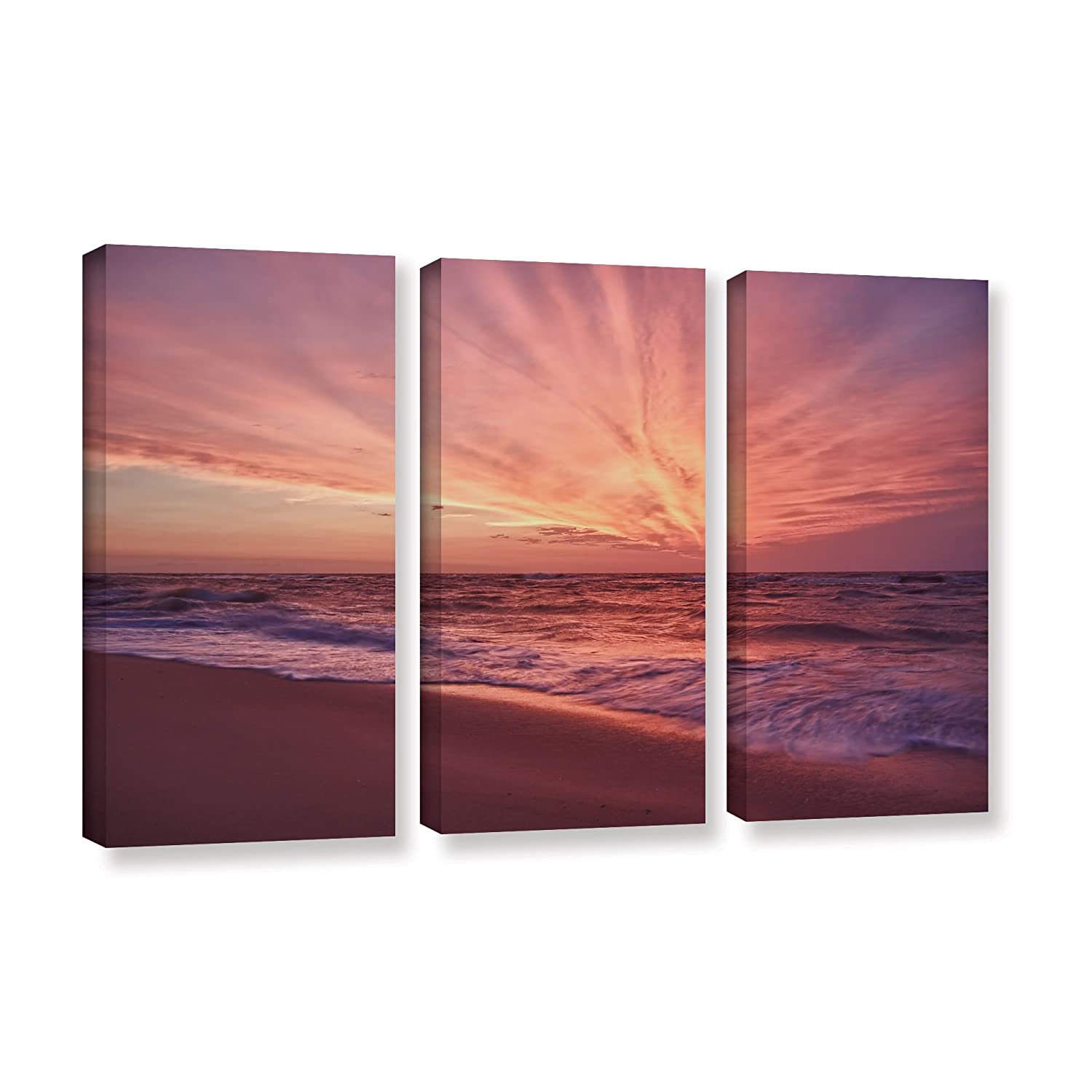 36 by 54-Inch ArtWall Dan Wilsons Outer Banks Sunset II 4-Piece Gallery Wrapped Canvas Artwork