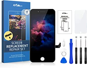 Flylinktech for iPhone 8 Screen Replacement, Compatible with iPhone 8 LCD Screen Replacement & Repair Tool Kit (Black, 4.7Inch, with Model A1863/A1905/A1906)