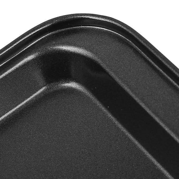 Amazon.com: eDealMax rectangular de acero al carbono barbacoa Pan ...