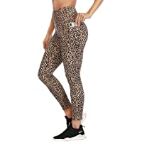 RAYPOSE High Waist Yoga Workout Print Leggings with Pockets Exercise Running Gym Tummy Control Pants