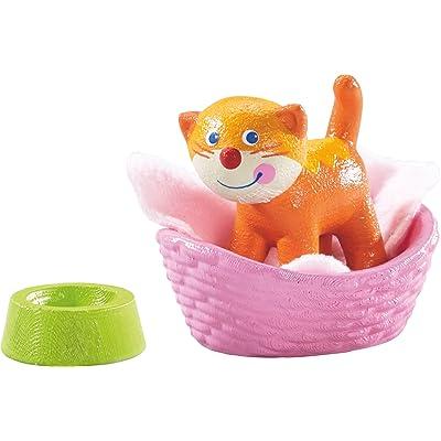 HABA Little Friends Cat Kiki with Basket, Blanket & Bowl: Toys & Games