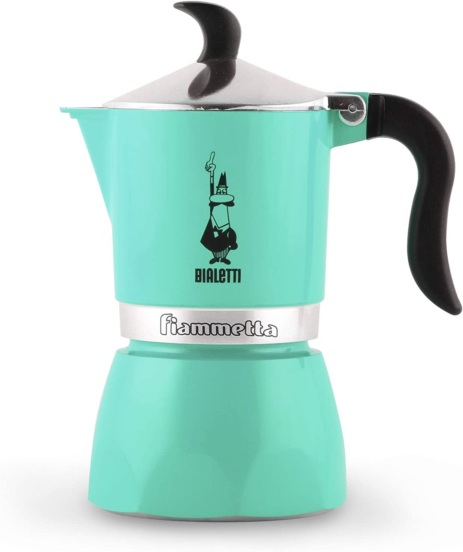 Bialetti Fiammetta Verde - Cafeteras italianas (Verde, 3 tazas, Aluminio, Fiammetta, 1 pieza(s), 6 pieza(s)): Amazon.es: Hogar