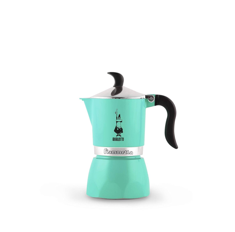 Bialetti Fiammetta Verde - Cafeteras italianas (Verde, 1 tazas, Aluminio, Fiammetta, 1 pieza(s), 6 pieza(s))