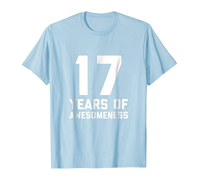 Mens 17th Birthday Shirt Gift Age 17 Year Old Boy Girl Seventeen 2XL Baby Blue