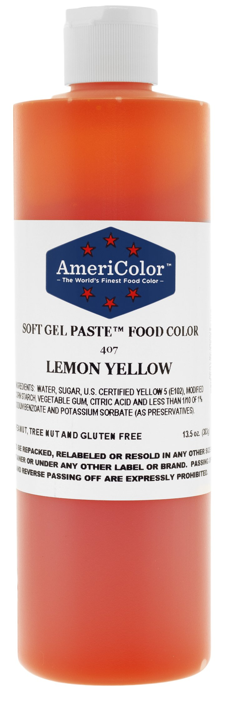Americolor Soft Gel Paste Food Color, 13.5-Ounce, Lemon Yellow