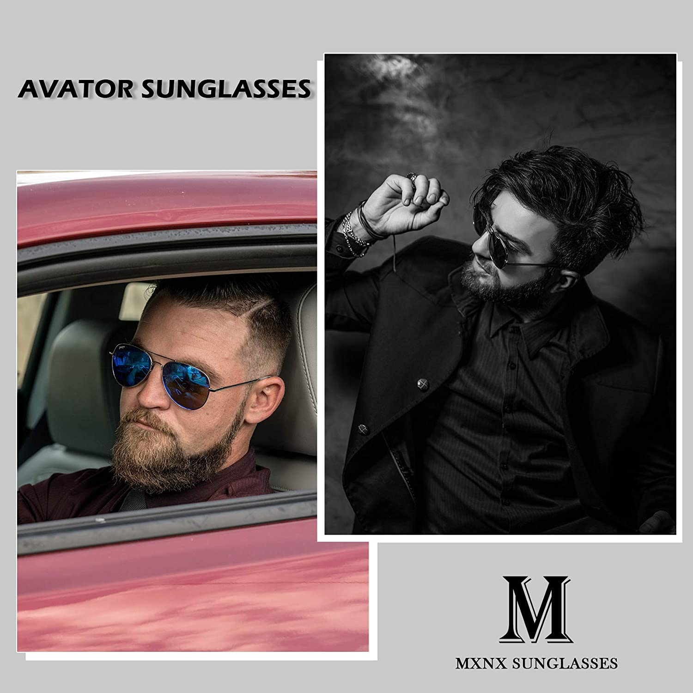 Amazon.com: MXNX Aviator Gafas de sol polarizadas para ...