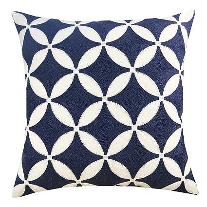 Amazon Plain Jane Embroidery Decorative Throw Pillow Cover Inspiration Plain Decorative Pillows