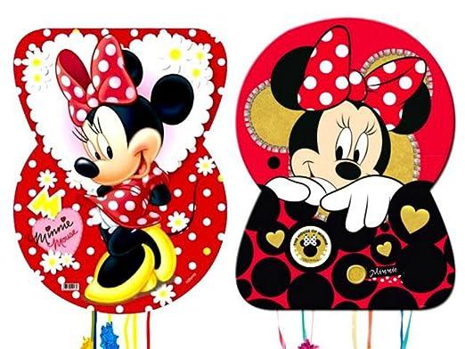 CAPRILO Set de 2 Piñatas Disney Minnie Complementos ...