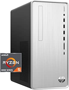 HP Pavilion Desktop PC, AMD Ryzen 5 4600G Processor 6-core with Radeon Graphics, 12 GB DDR4-3200 SDRAM, 512 GB HD - Windows 10 Home, Multi-Display Capable, 5.1 Surround Sound (TP01-1140)