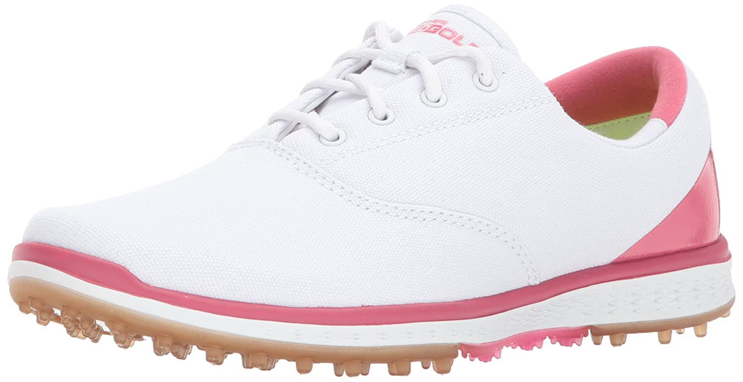 Skechers Performance Women's Go Golf Elite Canvas Golf Shoe B06XWGR2WV 5.5 B(M) US|White/Pink