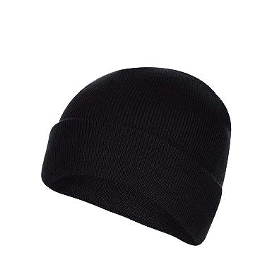 bfb915ed6 Red Herring Men Black Beanie Hat One Size: Red Herring: Amazon.co.uk ...