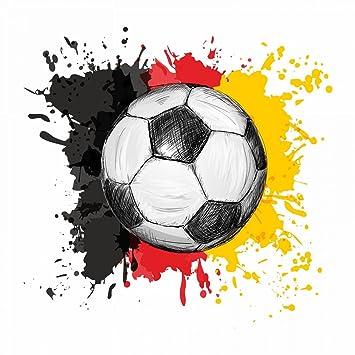 Nikima 110 Wandtattoo Fussball Deutschland Fahne Flagge
