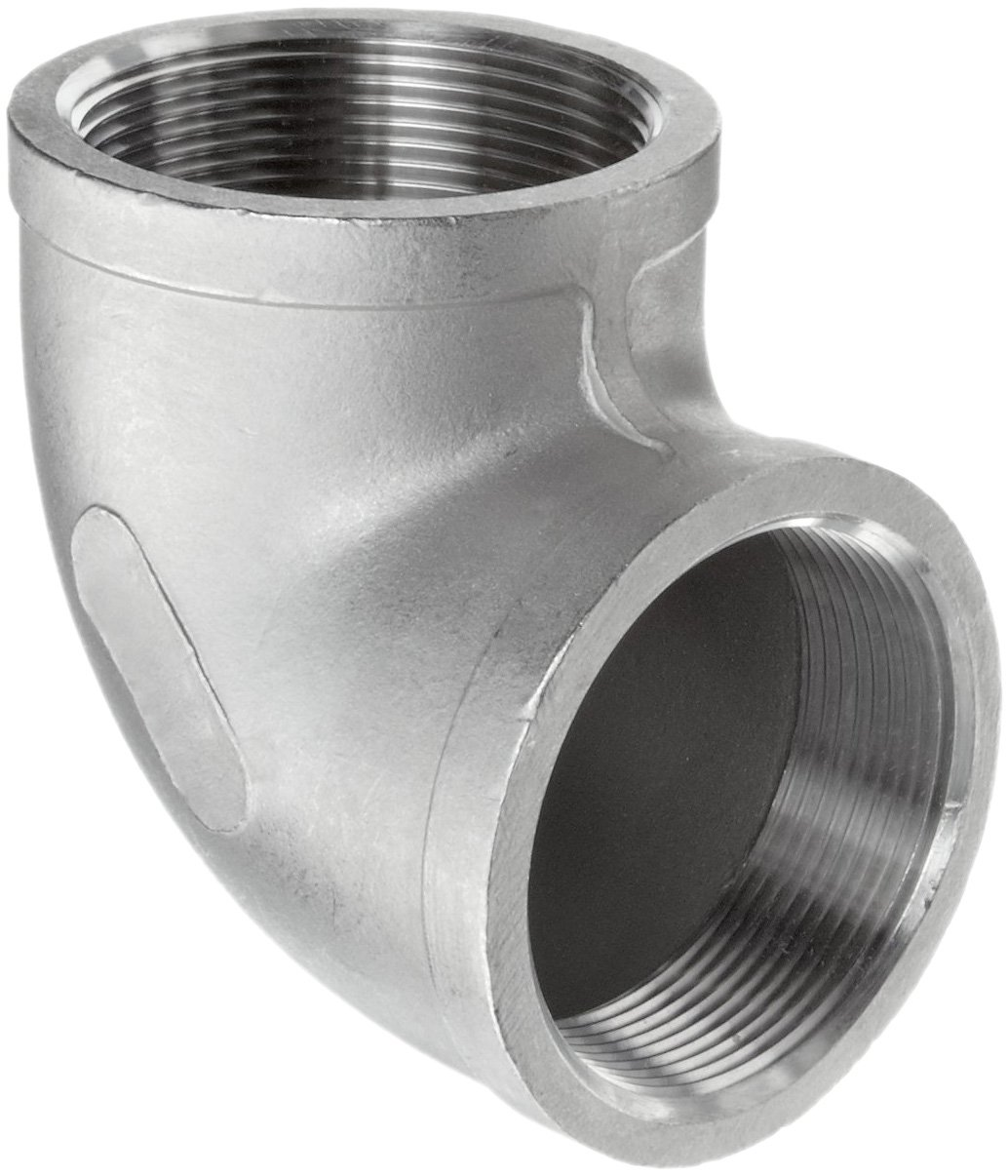 Stainless Steel 304 Cast Pipe Fitting 90 Degree Elbow Class 150 1 Pipa Stenlis 2 Npt Female Industrial Fittings Scientific