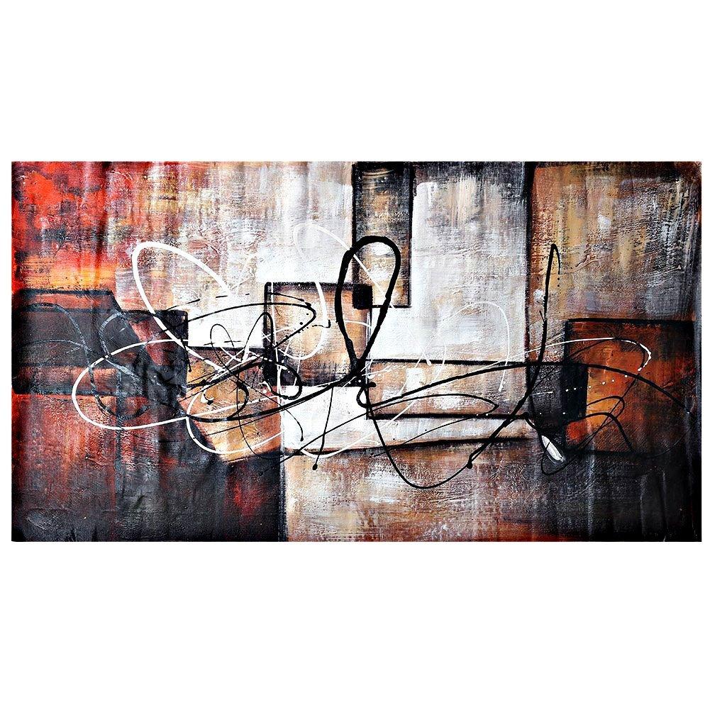 HJ dipinti ad olio set di 2 moderni mattoni di colore astratto ...