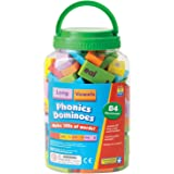 Educational Insights Phonics Dominoes - Long Vowels, Long Vowel Game for Kids Ages 6 and up, (84 pieces)